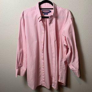VINEYARDVINES Men's Large Pink White Button Down